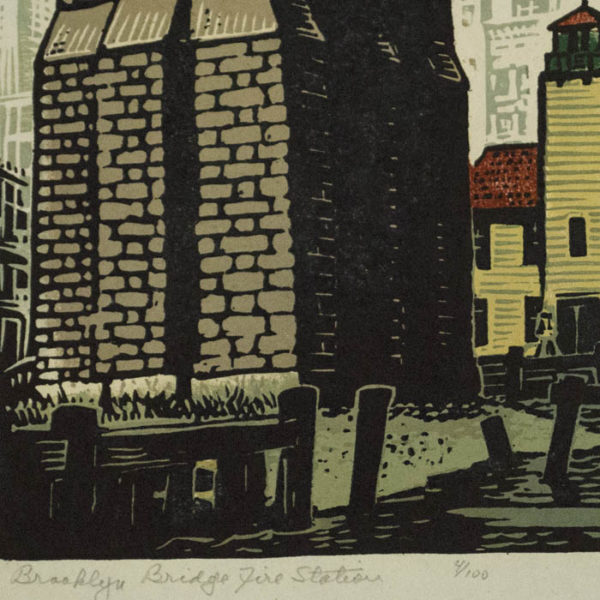 Brooklyn Bridge Fire Station, detail