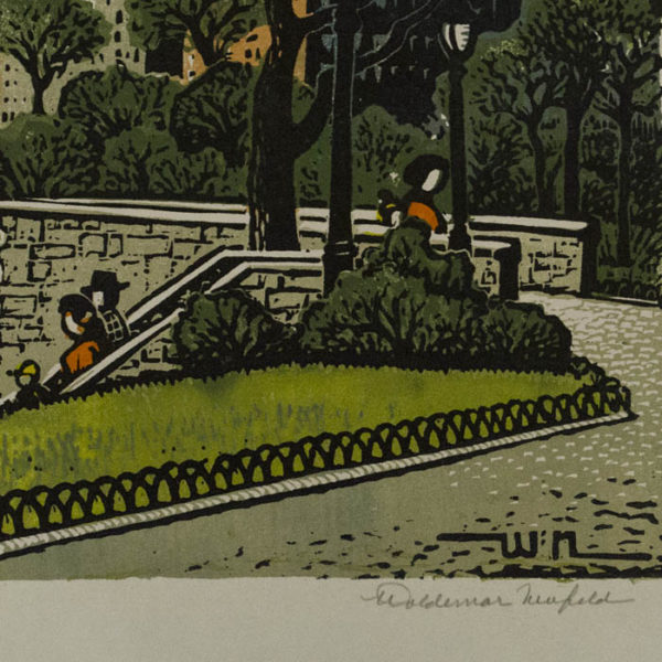 Stone Bridge in Carl Schurz Park, detail