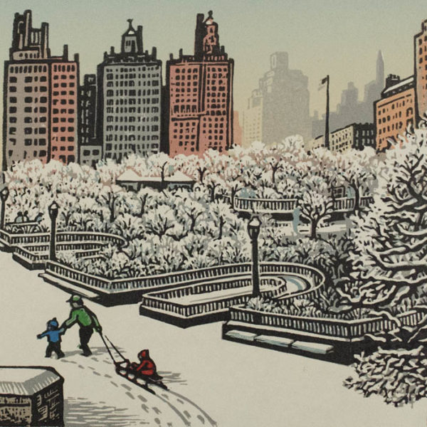 Woldemar Neufeld, Carl Schurz Park in Winter, detail