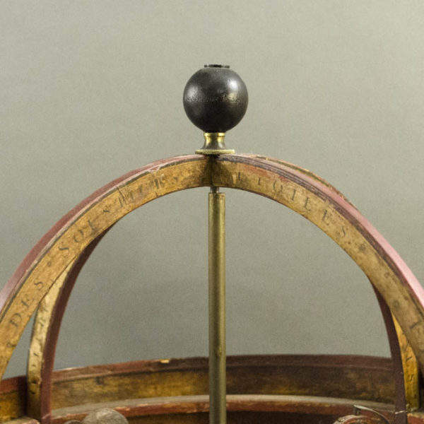 Pasteboard French Armillary Orrery, detail