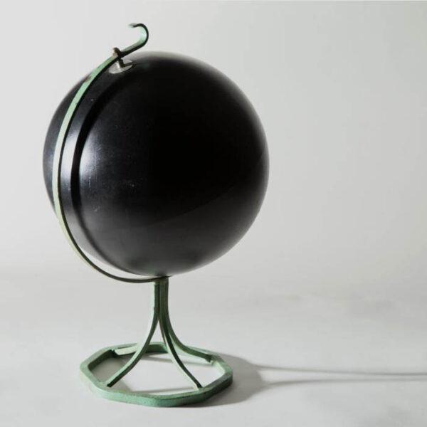 12-inch Slate Globe on Verdigris Stand