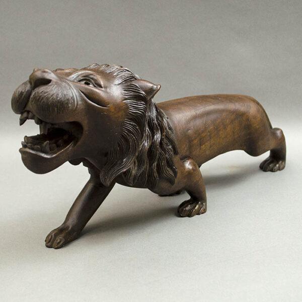 Striding Lion Figurine