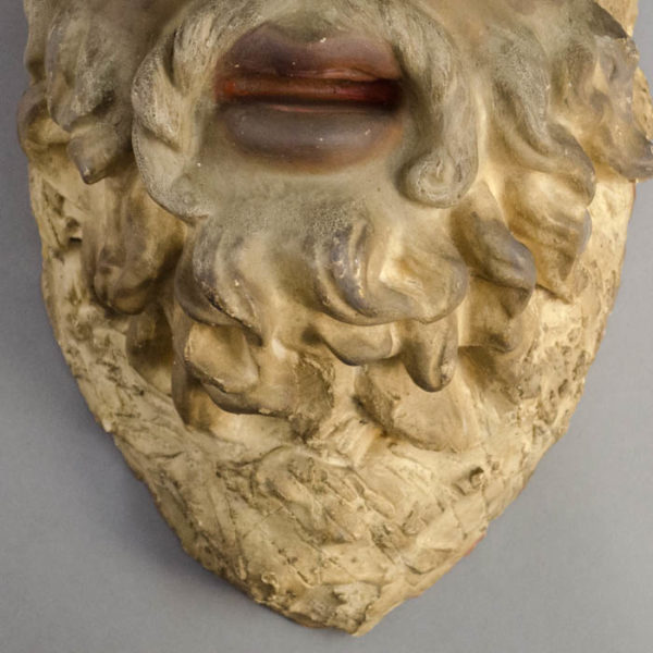 Sal Terracina, Bearded Man Mask Plaque, detail