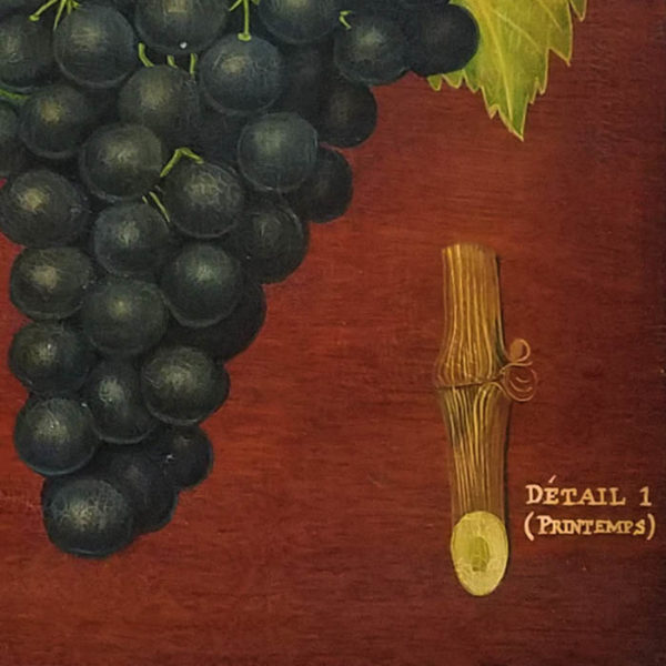 Clos de Vougeot [Black Grapes], detail