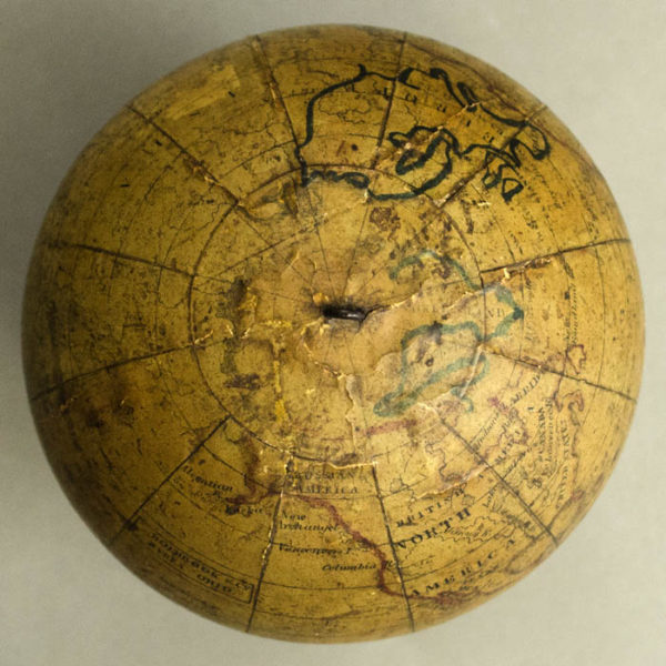Holbrook & Co. 5-inch Terrestrial Table Globe, detail