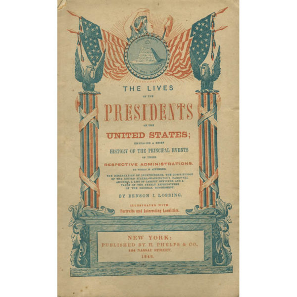 Lives of the Presidents of the United States, book cover