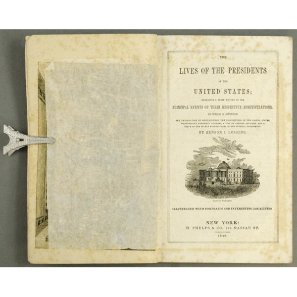 Lives of the Presidents of the United States book open to title page