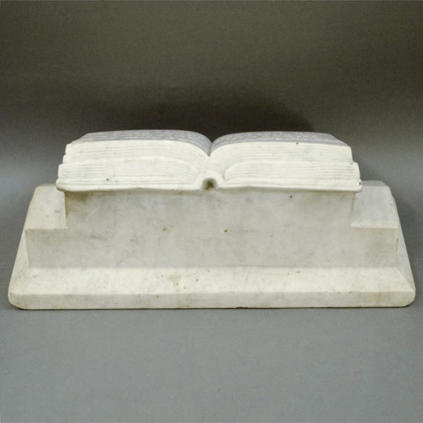 Marble Bible Open to Deuteronomy 28:6, back