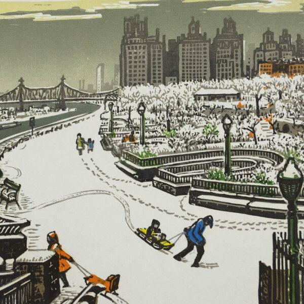 John Finley Walk in Winter, detail