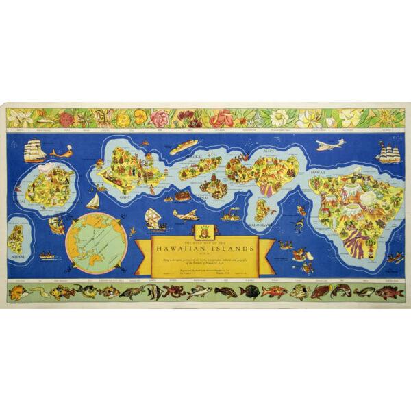 The Dole Map of the Hawaiian Islands, U.S.A.