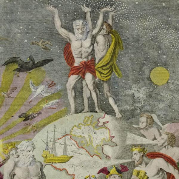 Homann, Atlas Novus Frontis Page, detail