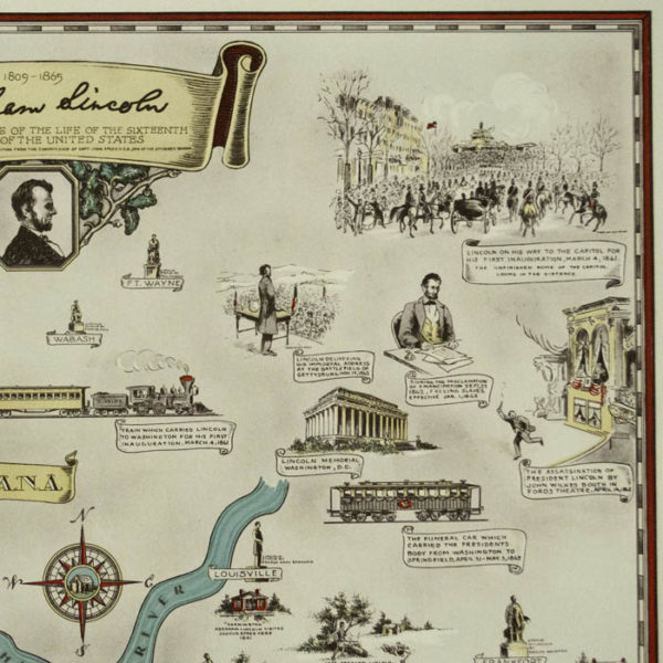 Abraham Lincoln: A Pictorial Outline of the Life of the Sixteenth President of the United States, detail