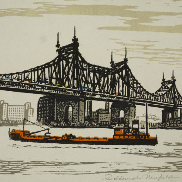 Woldemar Neufeld, Under Queensboro Bridge, detail