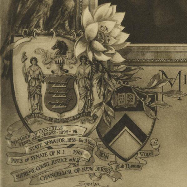 Mahlon Pitney, Lotos Club Illustrated Dinner Menu, detail
