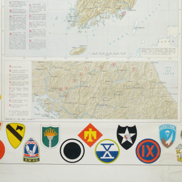 Pacific Stars and Stripes Map of the War