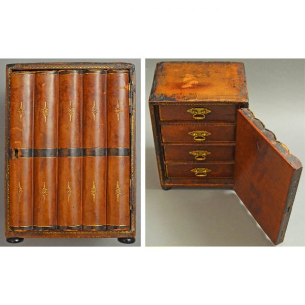 Miniature Cabinet Desk Faux Book Form Box