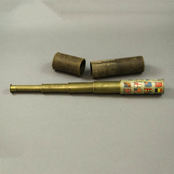 A.N. Myers Nautical Spyglass with Flag Decorations