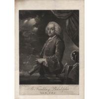 B. Franklin of Philadelphia, 1761, L.L.D., F.R.S., after Benjamin Wilson