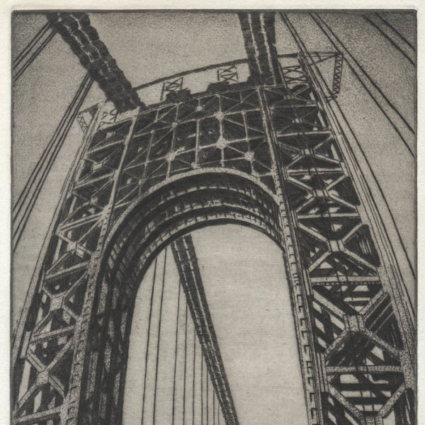 Tower under Construction, Washington Bridge NYC, detail