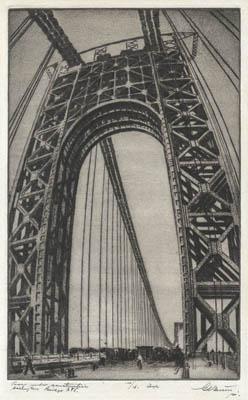 George Washington Bridge under Construction