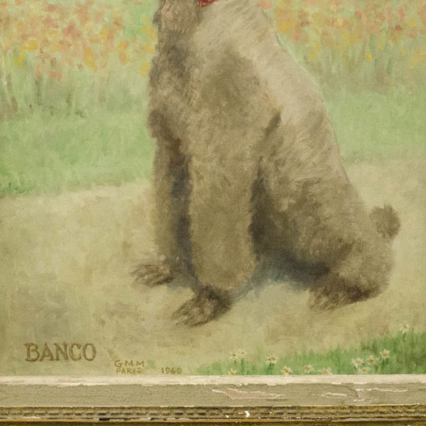 Banco, Poodle of Flora Whitney Payne Miller, detail