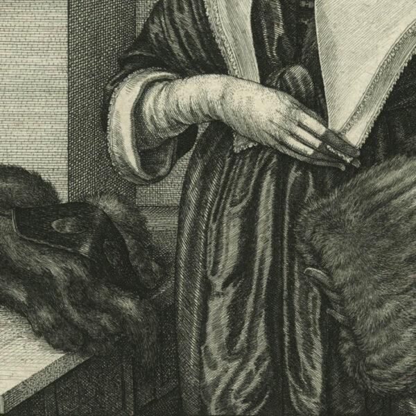 Wenceslaus Hollar, The Four Seasons: Winter, detail