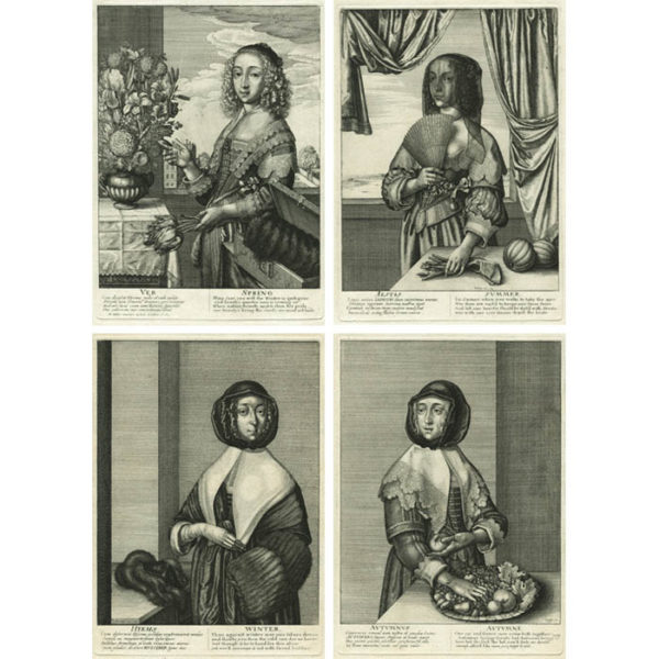 Wenceslaus Hollar, The Four Seasons: Spring, Summer, Autumn, Winter