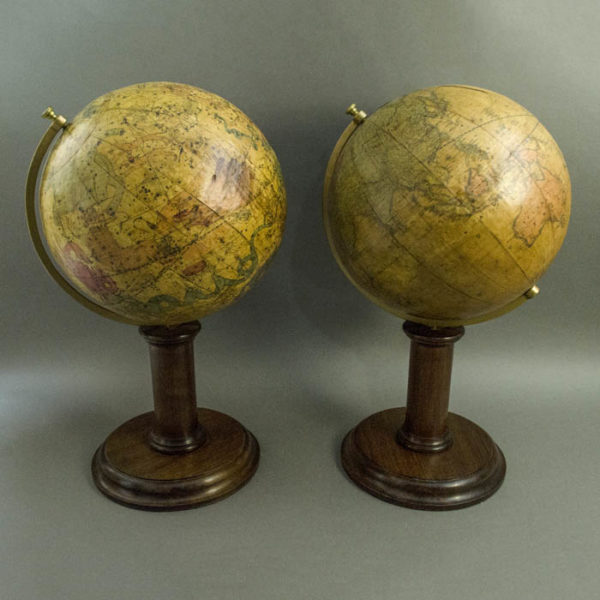 Masonic Pair of 10-inch Terrestrial and Celestial Table Globes