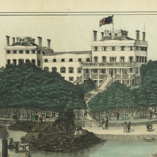View of the Neptune House, New Rochelle, West Chester Co. N.Y., detail