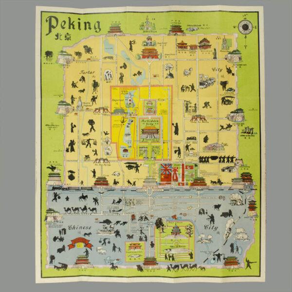 John Kirk Sewall, Pictorial Map of Peiping (Peking)