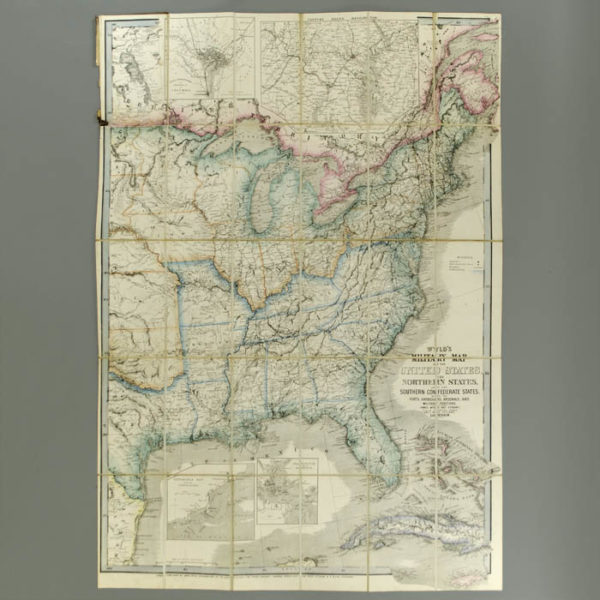 Wyld's Military Map Of The United States, The Northern States, And The Southern Confederate States