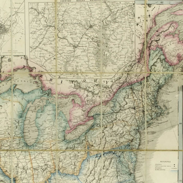 Wyld's Military Map Of The United States, The Northern States, And The Southern Confederate States, detail
