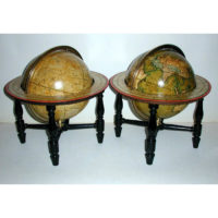 Mathew Carey/ J. & W. Cary Pair of Nine-Inch Terrestrial and Celestial Table Globes