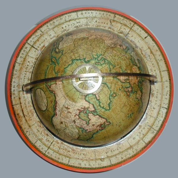 Mathew Carey/ J. & W. Cary Terrestrial Table Globe, detail