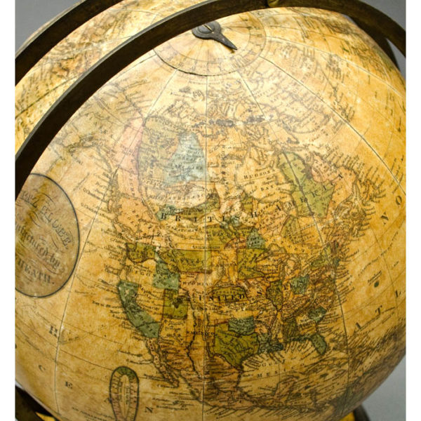 Ginn & Heath, 12-Inch Terrestrial Globe in Fitz Mount, detail