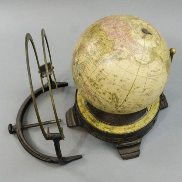 6-Inch Terrestrial Globe in Fitz Mount, disassembled