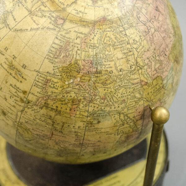 6-Inch Terrestrial Globe in Fitz Mount, detail