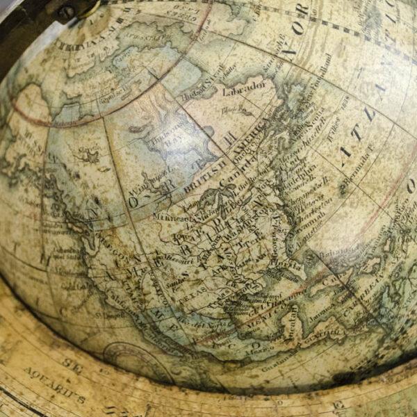 Franklin/ Merriam, Moore Six-Inch Terrestrial Table Globe, detail