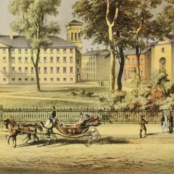View of Nassau Hall, Princeton, N.J., detail