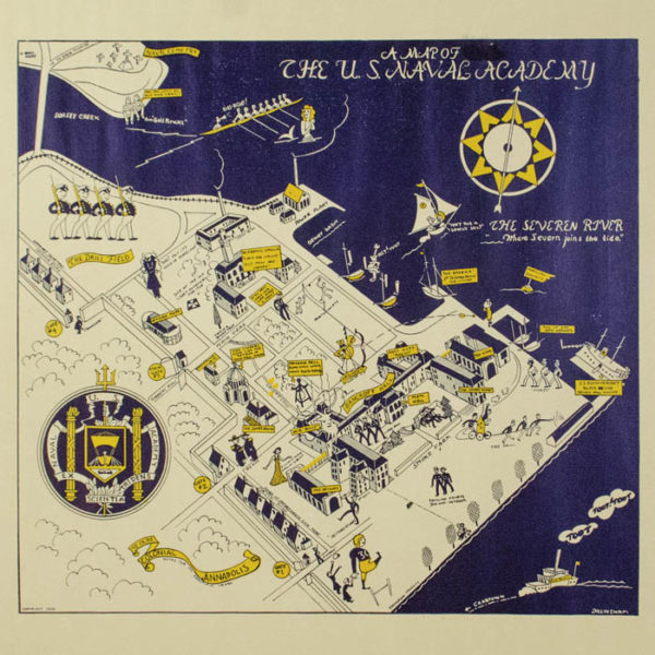 A Map of The U.S. Naval Academy