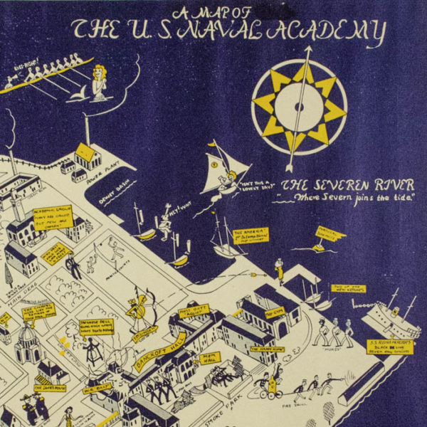 A Map of The U.S. Naval Academy, detail