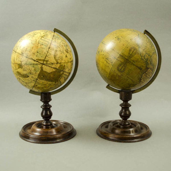 Newton & Son Pair of 4-Inch Terrestrial and Celestial Globes