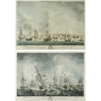 View of Harwich and the Yatchs Going Out, With Lord Anson returning the Salute from Landguard Fort and The Storm, When the Mary Yatch Was Laid on Her Beam Ends