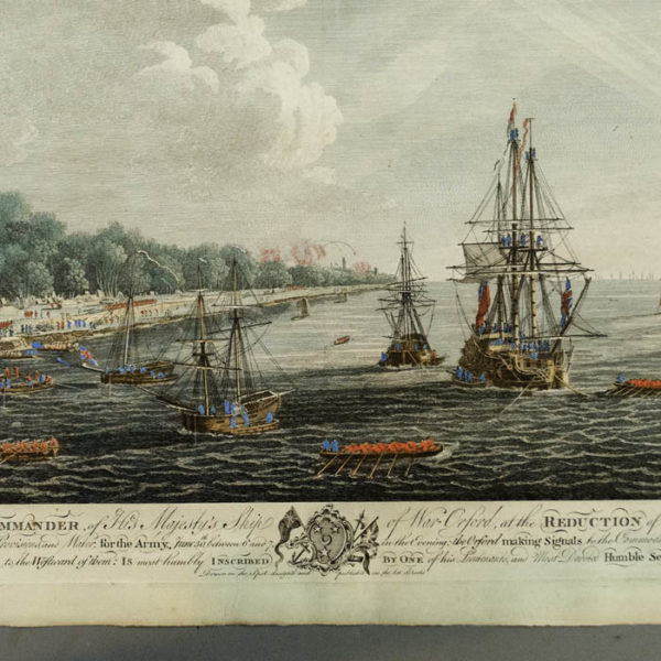 Siege of Havana: Perspective View of Landing on June 30th, detail