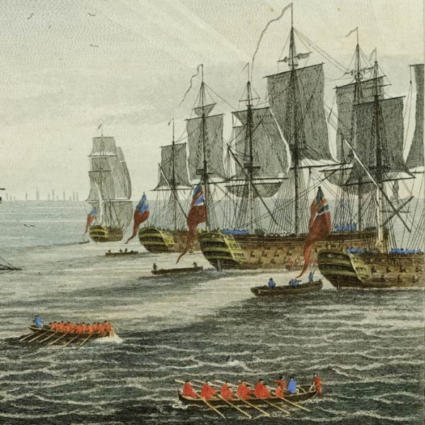 Siege of Havana: Perspective View of Landing on June 30th, detail