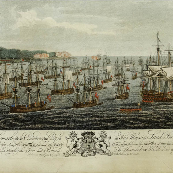 Siege of Havana: Perspective View of Landing on June 7th, detail