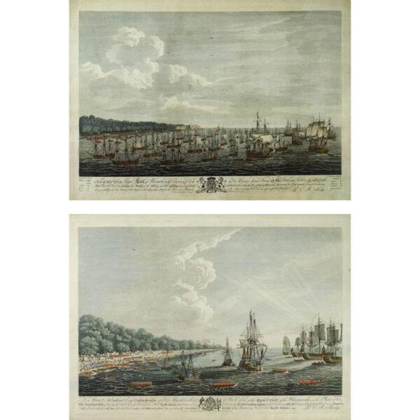 Siege of Havana: Perspective View of Landing on June 7th and Perspective View of Landing on June 30th