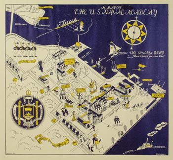 US Naval Academy Map