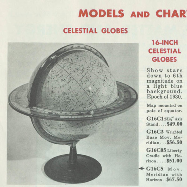 Denoyer-Geppert Company 16-inch Celestial Table Globe, catalog