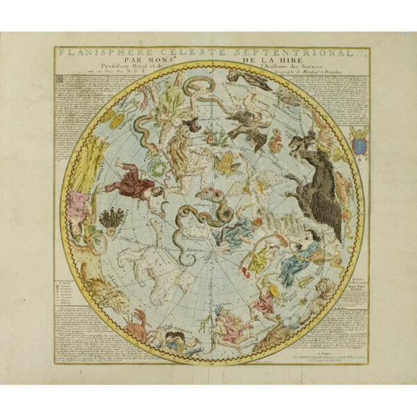 Planisphere Celeste Septentrional Par Mons'r. De La Hire
